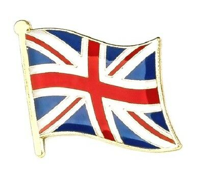 UK Flag Badge Union Jack Pin British England Lapel Great Britain GB Enamel