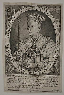Renold Elstracke: Earliest native English engraver - Henry VI. - 1618 *2537*