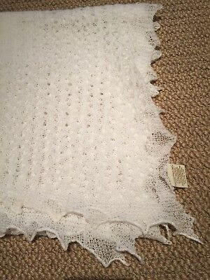 G. H. Hurt & Sons 100% Pure Wool Hand Finished Baby Blanket