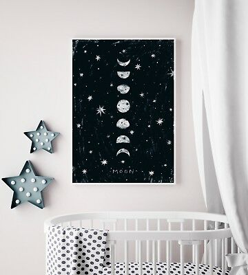 Phases Of The Moon Nursery Art / Picture / Print / Bedroom / Playroom