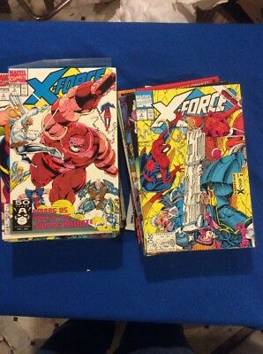Marvel:X-Force(Cable) Giant Lot 50 Different Issues VF To NM.