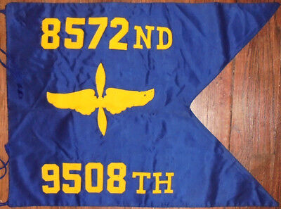 -Rare- WWII -8572nd US Army Air Force Group- Vintage Military AAF Guidon Flag