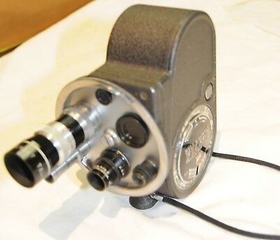 Filmo Bell & Howell Double Run Eight 8 Mm Movie Camera C.1930-40