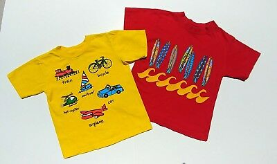 Lot Of 2 Boys Toddler 2T - 3T Novelty T-Shirts Tee Free Shipping!!