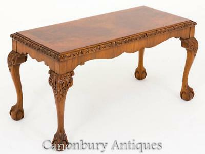 Walnut Coffee Table Queen Anne Antique Tables