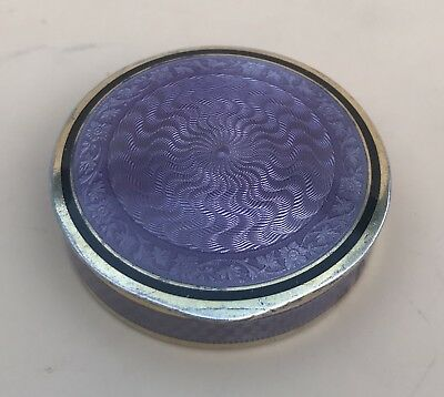 Lovely Austrian Solid Silver Gilt Guilloche Enamel Compact, C1900