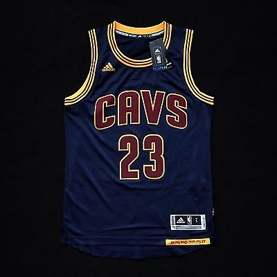 free shipping 2567b c54c9 100% AUTHENTIC LEBRON James Adidas Cavs Blue Swingman Jersey Size S 40 M