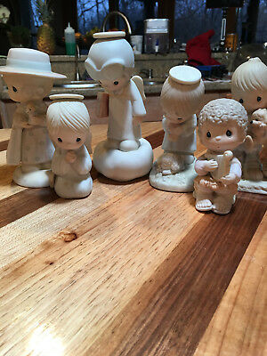 Lot of 6 Precious Moments Figurines - FREE Shipping