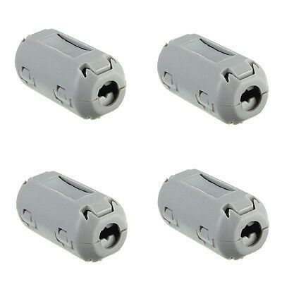 5pcs 9mm Noise Suppressor EMI RFI Clip Choke Ferrite Core Cable Filter Grey ^YJ