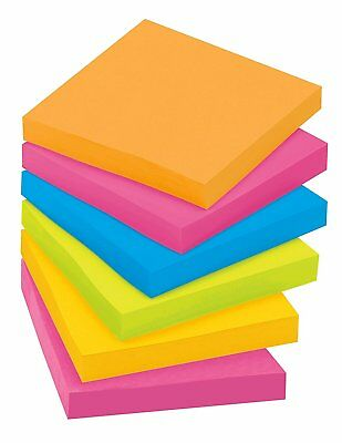 Post-it Super Sticky Notes, 3 in x 3 in, Assorted Bright Colors 90 Sheets/Pad