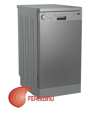 Dishwasher 45Cm Cl.a+ Free-Standing Stainless 10 Covered Art.dfs05013X Beko