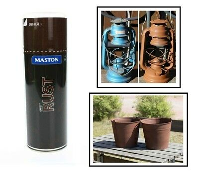 Maston Spray Rosteffekt 400ml Rostoptik Spraydose HIT mit kleine Metallpartikel