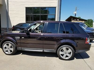 2012 Land Rover Range Rover black 2012 Range Rover Sport HSE LUX Package