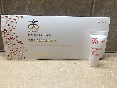 10 RE9 Arbonne Corrective Eye Cream CREME Sample Travel Tubes = 1 fl oz **NEW***
