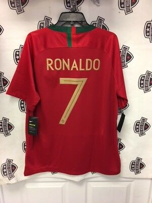 on sale 48d4e 43a5b CRISTIANO RONALDO 2018 Portugal World Cup Home Red Jersey Nike XL
