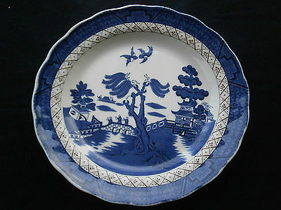 "Blue & White Plate Royal Doulton ""Real Old Willow""–The Majestic Collection- L902"