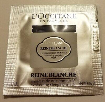 NEW L'OCCITANE Reine Blanche Whitening Sleeping Mask 1.5ml