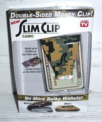 Slim Clip Camo  As Seen On TV Double Sided Money