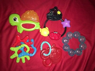 LOT Baby Teether Toys Rings Activity Teething Chew Key