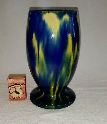 McHugh Pottery Vase 1934  H.19cm - Their Best Colourway - Australian Pottery
