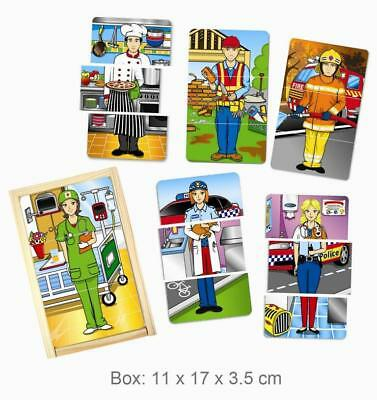 NEW Fun Factory Wooden Job Occupation Dress Up PUZZLE in Box 18pc