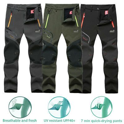 AU Men's Outdoor Soft shell Camping Tactical Cargo Pants Combat Hiking Trousers