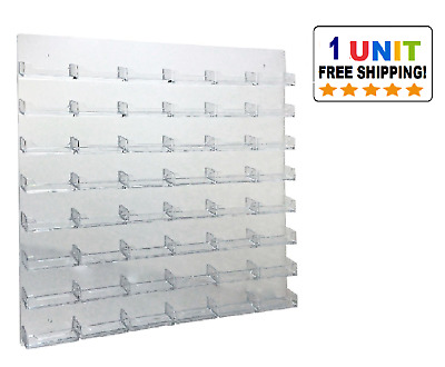 48 Pocket Clear Acrylic Wall Mount Business Card Holder
