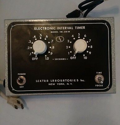 Lektra Laboratories TM-510M Darkroom Interval Timer Model Photo Picture Switch