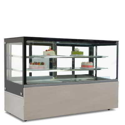 Commercial Display Fridge Cake Showcase 3 Layers 1800mm length heated glass