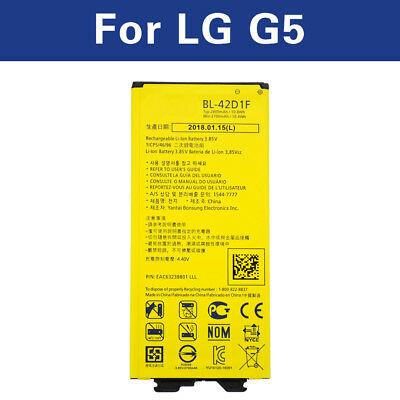 Li-ion Battery BL-42D1F for LG G5 H850 VS987 H820 LS992 H830 US992 2800mAh akku