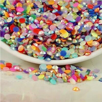 800pcs 4mm Faceted Jelly beads flatback Scrapbooking for crafts rhinestone #898