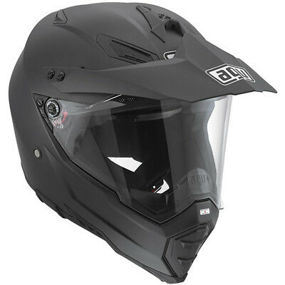 AGV NEW AX-8 Dual EVO  Matt Black Adventure Off Road Dual Sport Helmet