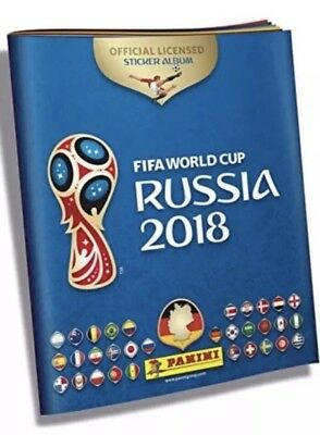 Panini FIFA World Cup Russia 2018 Official Licensed Sticker Album + 6 Stickers