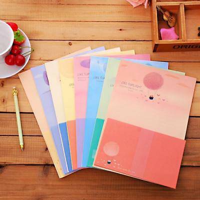 Cute Letter Set 6x Writing Stationary paper & 3x Envelope for Postcard & Letter