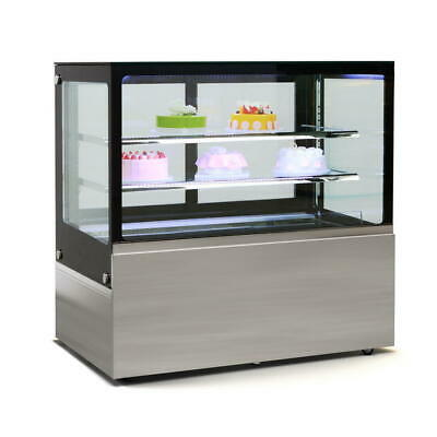 Commercial Display Fridge Cake Showcase 3 Layers 1200mm length heated glass