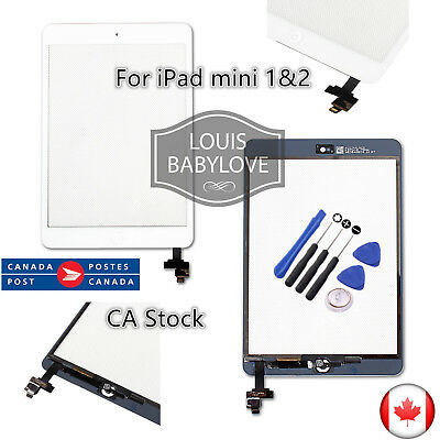 For Apple iPad Mini 1 & 2 LCD Touch Screen Digitizer IC Cable replacement White