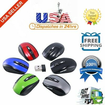 2.4GHz Wireless Optical Mouse With USB Receiver & 3 Adjustable DPI for PC Laptop