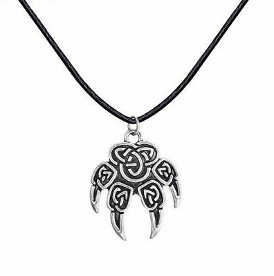 Wolf Foot Talisman ~ Viking Symbol Woof Paw Pendant Necklace ~ for Men or Women