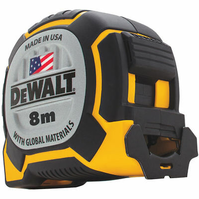 DeWalt TAPE MEASURE DWHT36228 8m 32mm Wide Blade, Integrated Lanyard Slot