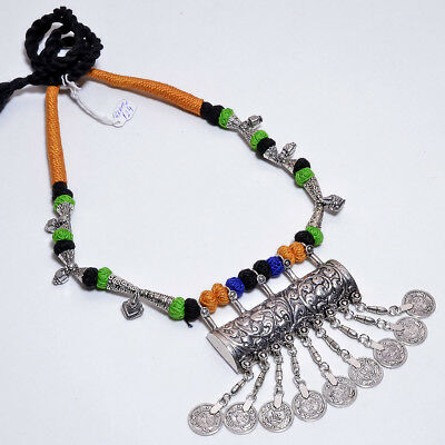 Antique New German silver Hanging Coins women fashion thread Necklace Jewelery