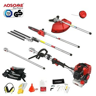 AOSOME 52CC Petrol Multi Function Garden Tool - Hedge Trimmer, , Brush Cutter, P