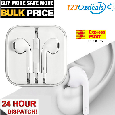 Earphones Earbuds Headphone for Apple iPhone 4 5 6 iPod iPad Air With Mic Remote