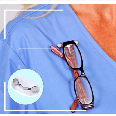 Magnetic Clip On Eyeglass Holder As Seen On Tv- Free Shipping