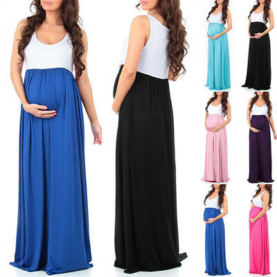 Pregnant Clothes Women Maternity Short Sleeve Casual Dress Cotton Summer Dress