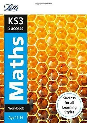 Letts KS3 Success Maths Workbook Age 11-14 BRAND NEW BOOK (Paperback 2014)