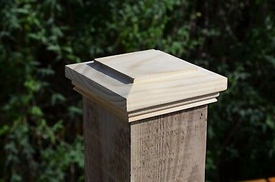 """5  x Quality Decorative Timber Newel Caps  for  4""""/100MM Fence/ Gate/ Stair post"""