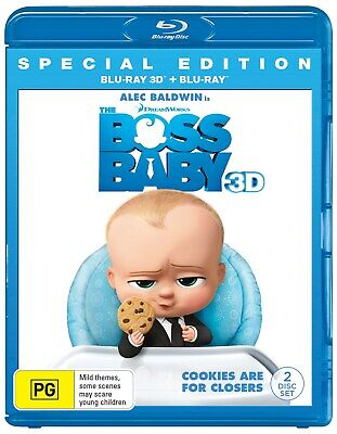 The Boss Baby 3D Edition with 2D Edition Blu-ray Region B NEW
