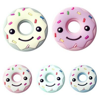Newborn Toddler Kids Chew Teether Infant Baby Silicone Doughnuts Teething Toys