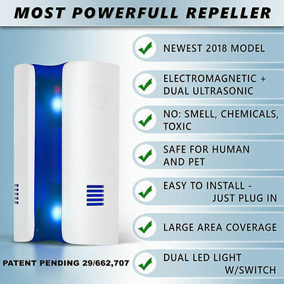 Ultrasonic Electronic UK Plug Repeller Mouse Mice Spider Insect Pest  Deterrent