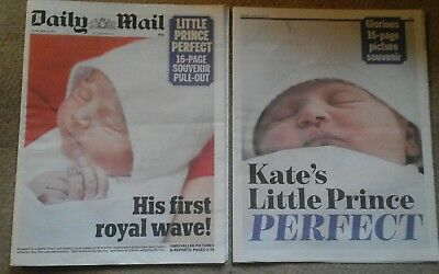 UK Kate Middleton Daily Mail Newspaper Cover Clippings New Baby Souvenir Issue